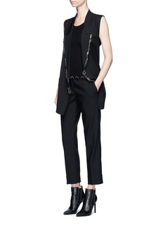 Alexander Wang  Piercing virgin wool blazer vest