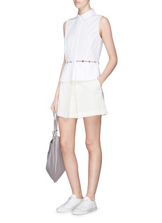 Alexander Wang  Pleated crepe shorts