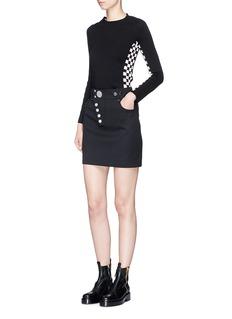 Alexander Wang  Stud twill mini skirt
