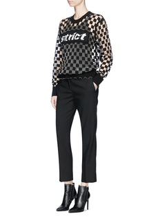 Alexander Wang  'Strict' checkboard devoré mesh sweatshirt