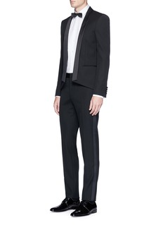 Saint Laurent Satin outseam wool tuxedo pants