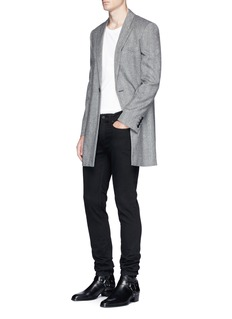 Saint Laurent Wool herringbone coat