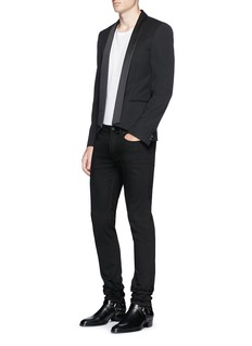 Saint Laurent Shawl lapel virgin wool tuxedo blazer