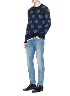 Saint Laurent Heart jacquard knit sweater
