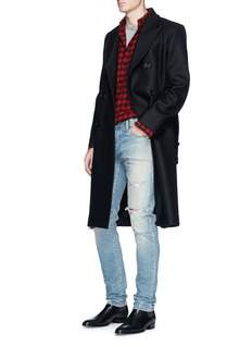 Saint Laurent Double breasted wool coat