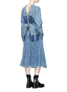 Sacai Lace-up back denim top