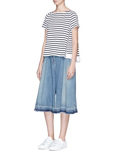 Sacai 'Dixie' grosgrain trim stripe T-shirt