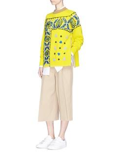 SACAI Bandana刺绣羊毛针织衫