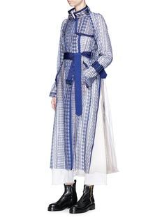 SACAI民族刺绣网纱长款外套