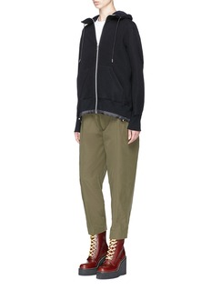 Sacai Sponge sweatshirt zip hoodie