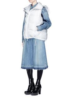 SacaiFaux fur trim quilted down vest