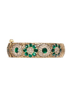 Aishwarya Emerald sapphire diamond 14k gold alloy bangle