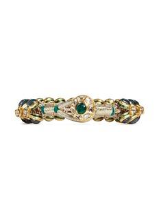 Aishwarya Diamond emerald 14k gold alloy bangle