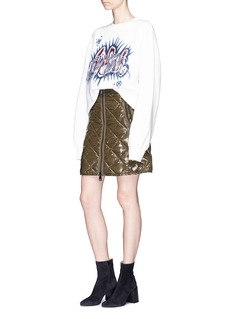 Moncler Quilted mini down puffer skirt