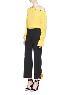 Emilio Pucci 'Berbania' pleated insert flared suiting pants