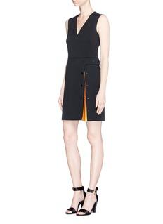 Emilio Pucci'Berbania' pleated insert suiting dress