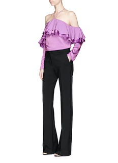 Emilio Pucci Off-shoulder halterneck crepe top