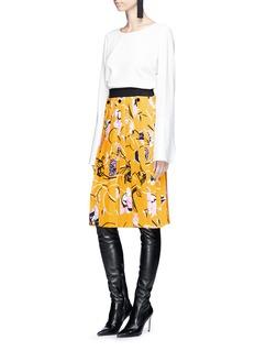 Emilio Pucci 'Verbania' floral print pleated crepe skirt