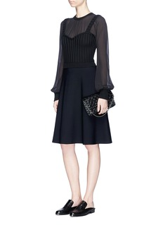 ValentinoCrepe and knit dress