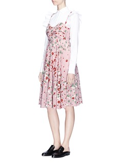 Valentino Bow front daisy print silk dress