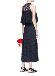 Temperley London 'Farewell' botanical embroidered guipure lace maxi dress