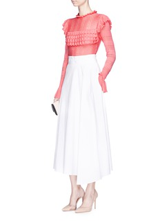 Temperley London 'Cypre' ruffle pointelle knit sweater