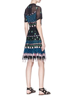 Temperley London 'Horizon' woodland embroidered crepe mini dress