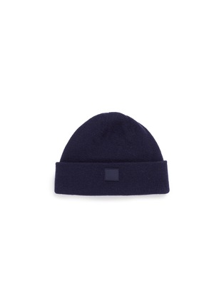 Main View - Click To Enlarge - Acne Studios - 'Knut L Face' emoticon patch wool beanie