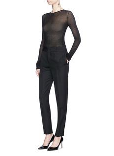 Saint Laurent Slim fit virgin wool pants