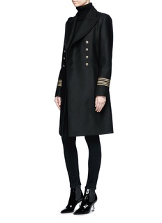 Saint Laurent Military button double-breasted wool caban officer coat