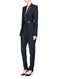 SAINT LAURENT 'Iconic le Smoking' wool-mohair suiting jumpsuit