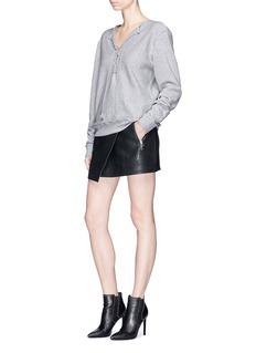 Saint LaurentLace-up cotton sweatshirt