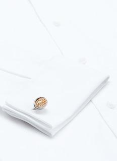 TATEOSSIAN 限量版海螺造型镀铑袖扣