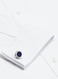 TateossianLapis lazuli tambourine sterling sliver cufflinks