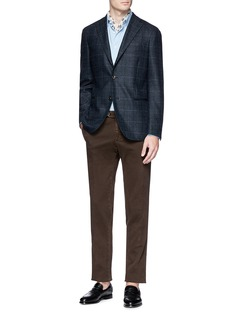 Boglioli 'K Jacket' windowpane check wool soft blazer