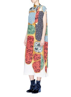 TOGA ARCHIVES Scarf collar assorted floral print dress
