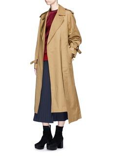 TOGA ARCHIVES Pleated taffeta trench coat