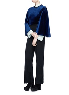 TOGA ARCHIVES Pleated wool knit pants