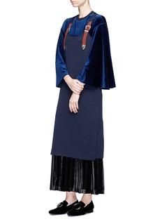 TOGA ARCHIVES Buckled shoulder strap wool knit dress