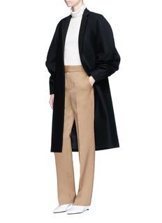 Victoria Beckham Puff raglan sleeve virgin wool melton coat