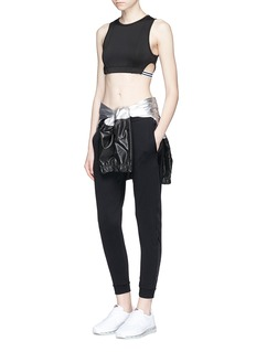 KORAL 'Dayside' side cutout performance cropped top