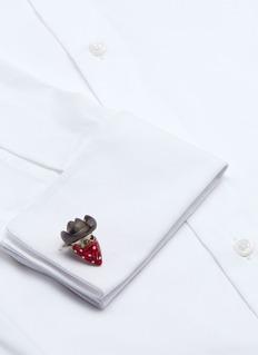 Deakin & Francis Cowboy skull sterling silver cufflinks