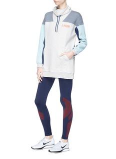 Lndr 'Noodie' striped colourblock sweatshirt