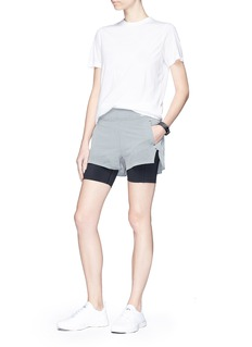 Lndr 'Run Double' layered performance shorts