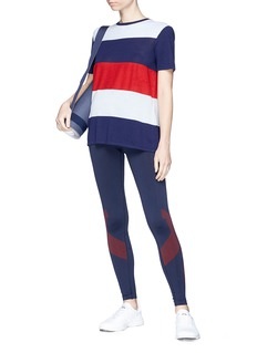 Lndr 'Scoot' colourblock stripe towelling sweater