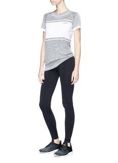 Lndr 'Varsity' colourblock compression panel performance T-shirt