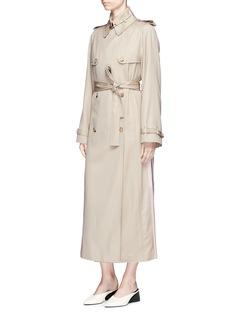 Gabriela Hearst Pleated back Merino wool twill trench coat