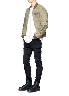 R13 'Skywalker' ruched skinny jeans