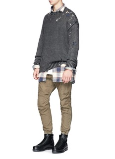 R13 Check plaid oversized flannel shirt