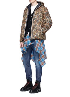 Dsquared2 x K-Way floral print reversible puffer jacket